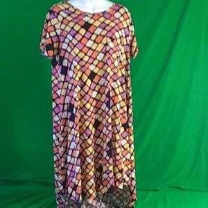 Lularoe multicolored block dress/ long shirt xs